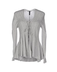 High Knitwear Cardigans Women Light Grey