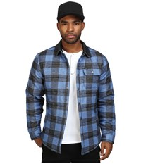 Brixton Cass Jacket Blue Plaid Men's Jacket Multi
