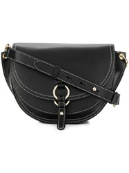 Tila March Contrast Trim Shoulder Bag Black