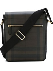 Burberry London Checked Messenger Bag Brown