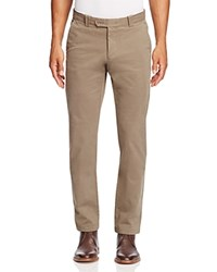 Bloomingdale's The Men's Store At Brushed Cotton Straight Fit Pants Olive