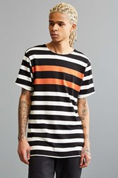 Publish Vance Stripe Tee Orange