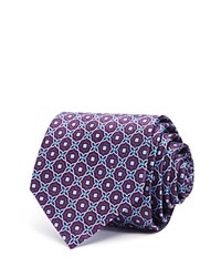 Bloomingdale's The Men's Store At Ornamental Star Medallion Classic Tie Purple