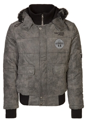Tom Tailor Leather Jacket Anthrazit Anthracite