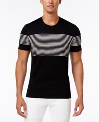 Inc International Concepts Men's Introspection Striped T Shirt Only At Macy's Deep Black