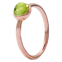 London Road 9Ct Rose Gold Pimlico Bubble Stacking Ring Peridot