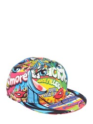 Moschino Eyes Printed Cotton Baseball Hat Multicolor