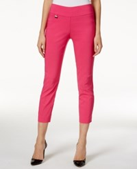 Alfani Tummy Control Pull On Capri Pants Only At Macy's Brilliant Berry