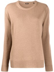 Aspesi Crew Neck Jumper Brown