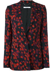Givenchy Abstract Floral Print Blazer Black