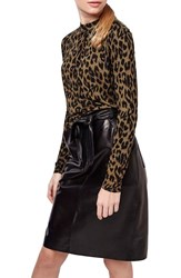 Women's Topshop Leopard Print Long Sleeve Top