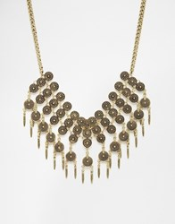 Designsix Coin Statement Necklace Gold