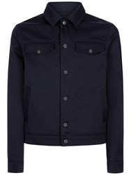 Jaeger Twill Shirt Jacket Navy