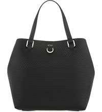 Karen Millen Gz114 Embossed Bucket Bag Black