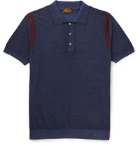 Tod's Tie Dye Cotton Jersey Polo Shirt Blue