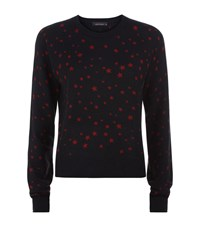Kate Moss For Equipment Ryder Star Print Cashmere Sweater Female Black
