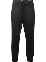 Neil Barrett Knit Ankle Jogging Trousers Black