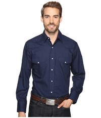 Roper 0772 Solid Broadcloth Navy Fancy Blue Men's Clothing