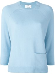 Allude Pocket Detail Jumper Blue