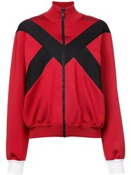 Givenchy Stripe Detail Zipped Jacket Red