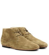 Tod's Suede Desert Boots Green