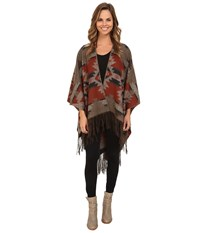 Pendleton Woven Blanket Shawl Mountain Majesty Women's Sweater Brown