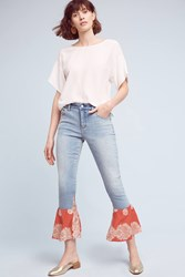 Pilcro High Rise Crafted Flare Jeans Red