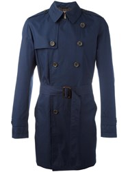 Sealup Belted Trench Coat Blue