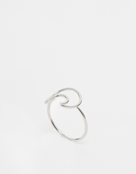 Whistles Wire Circle Ring Silver
