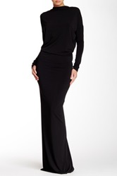 Issue New York Dolman Sleeve Backless Gown Black