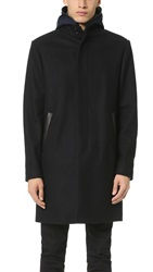 Vince Wool Melton 2 In 1 Jacket Black
