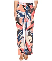 Vince Camuto Modern Tropics Wide Leg Pants Coral Passion Women's Casual Pants Red