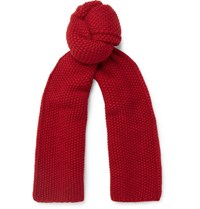 The Workers Club Merino Wool Scarf Red