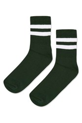 Topshop Sporty Tube Ankle Socks Forest