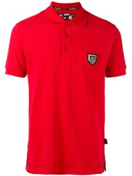 Plein Sport Classic Polo Top Red