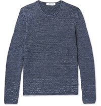 Inis Meain Melange Linen Sweater Charcoal