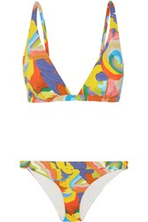 Missoni Mare Printed Triangle Bikini Orange