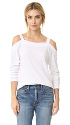Sol Angeles Cold Shoulder Top White