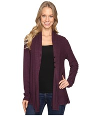 B Collection By Bobeau Betie Cardigan Berry Women's Sweater Burgundy