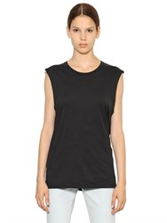 Blk Dnm T Shirt 28 In Pima Cotton