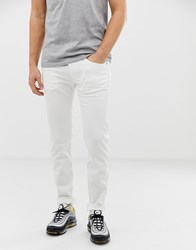 Replay Anbass Stretch Slim Jeans In White