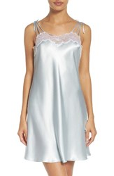 Oscar De La Renta Women's Sleepwear Charmeuse Chemise Something Blue