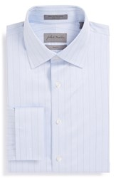 Men's Big And Tall John W. Nordstrom Trim Fit Herringbone Dress Shirt Blue Grapemist