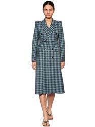 Balenciaga 3D Wool Tweed Coat Blue