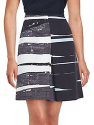 Akris Punto A Line Cotton Skirt Multicolor