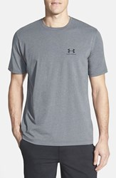 Under Armour Men's 'Sportstyle' Charged Cotton Loose Fit Logo T Shirt Carbon Heather Black