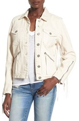 Blank Nyc Women's Blanknyc Suede Fringe Denim Jacket