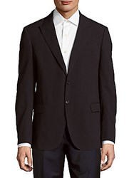 Giorgio Armani Long Sleeve Solid Blazer Sea Blue