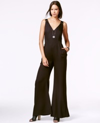 Rachel Rachel Roy Sleeveless Wide Leg Jumpsuit Black