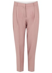 J. Lindeberg Paula Dusty Rose Crepe Trousers Light Pink